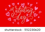 valentines day card with red... | Shutterstock .eps vector #552230620