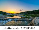 sunset over the pedernales... | Shutterstock . vector #552233446