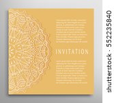 invitation or card template... | Shutterstock .eps vector #552235840