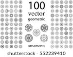100 set abstract geometric... | Shutterstock .eps vector #552239410