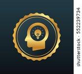 idea icon premium with gold... | Shutterstock .eps vector #552239734
