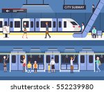 people in city subway.... | Shutterstock .eps vector #552239980