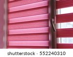 fabric roller blinds on the... | Shutterstock . vector #552240310
