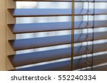 wooden shutters on the window... | Shutterstock . vector #552240334