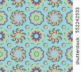 vivid vector seamless pattern... | Shutterstock .eps vector #552242533