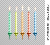 birthday cake candles. vector... | Shutterstock .eps vector #552251560