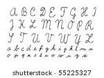 hand drawn alphabet  first... | Shutterstock .eps vector #55225327