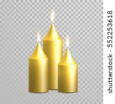 Golden Candle Flame Sparkling...
