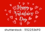 valentines day card with red... | Shutterstock .eps vector #552253693