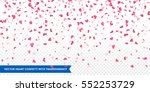 Stock vector heart confetti of valentines petals falling on transparent background flower petal in shape of 552253729