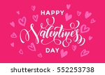 saint valentine greeting and... | Shutterstock .eps vector #552253738