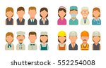 set icon character cook ... | Shutterstock .eps vector #552254008