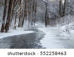 Frozen Little River In The...