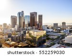 downtown cityscape los angeles  ... | Shutterstock . vector #552259030
