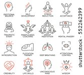 vector set of 16 linear icons... | Shutterstock .eps vector #552262399