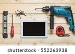 set of construction tools to...   Shutterstock . vector #552263938