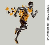 running athlete with a graphic... | Shutterstock .eps vector #552268333
