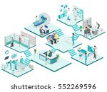 isometric flat interior of... | Shutterstock .eps vector #552269596