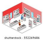 isometric flat 3d isolated... | Shutterstock .eps vector #552269686