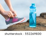 Drinking Water Concept. Bottle...