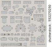 big set of accessories | Shutterstock .eps vector #552270250