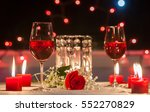 romantic dinner. focus on red... | Shutterstock . vector #552270829