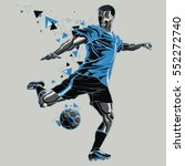 soccer player with a graphic... | Shutterstock .eps vector #552272740