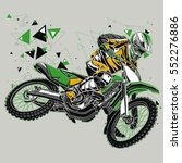 motocross rider with a graphic...   Shutterstock .eps vector #552276886