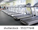image of treadmills in a... | Shutterstock . vector #552277648