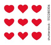 vector heart icons and design... | Shutterstock .eps vector #552280306