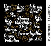 valentines day calligraphy... | Shutterstock .eps vector #552285460