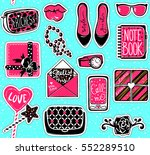 vector kit of contemporary... | Shutterstock .eps vector #552289510