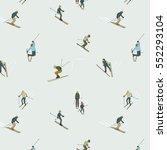 People In Ski Sport Activity....