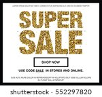 super sale. web banner with... | Shutterstock .eps vector #552297820