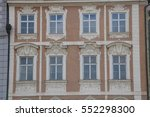 old windows in prague  with... | Shutterstock . vector #552298300