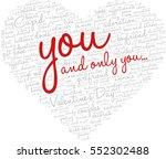 valentine's day word cloud...   Shutterstock .eps vector #552302488