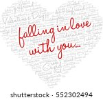 valentine's day word cloud... | Shutterstock .eps vector #552302494