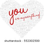 valentine's day word cloud... | Shutterstock .eps vector #552302500