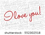 valentine's day word cloud... | Shutterstock .eps vector #552302518