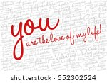 valentine's day word cloud... | Shutterstock .eps vector #552302524