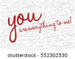 valentine's day word cloud... | Shutterstock .eps vector #552302530