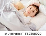 sick little child with... | Shutterstock . vector #552308020