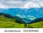 view of the alps along the... | Shutterstock . vector #552309484