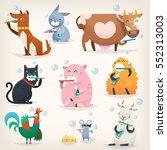 set of popular colorful vector...   Shutterstock .eps vector #552313003