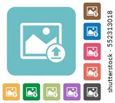 upload image white flat icons... | Shutterstock .eps vector #552313018