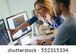 programmers cooperating at  it... | Shutterstock . vector #552315334