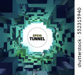 abstract vector tunnel. 3d... | Shutterstock .eps vector #552315940