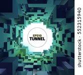 abstract vector tunnel. 3d...   Shutterstock .eps vector #552315940