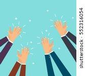 human hands clapping. flat... | Shutterstock .eps vector #552316054