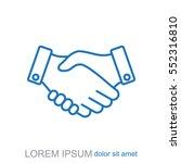 line icon. handshake | Shutterstock .eps vector #552316810